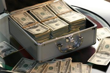 A suitcase of cash