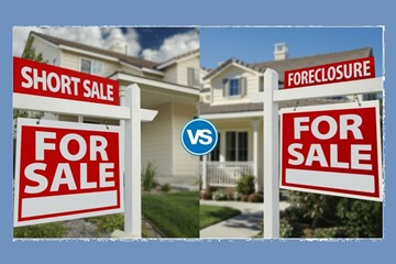 Short sale vs Foreclosure yard sign