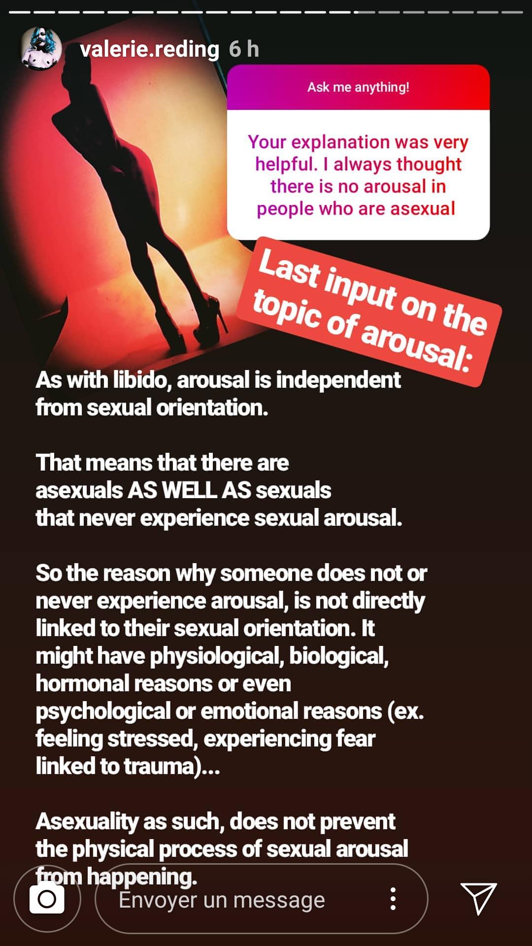 Valeries Instagram Story For Asexual Awareness Week