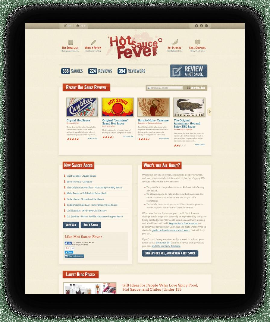 Hot Sauce Fever Website Design