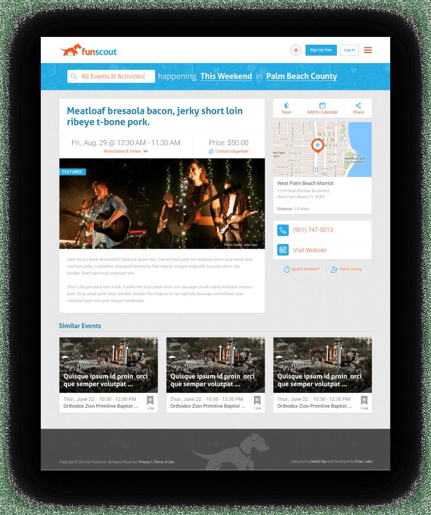 Funscout Website Design