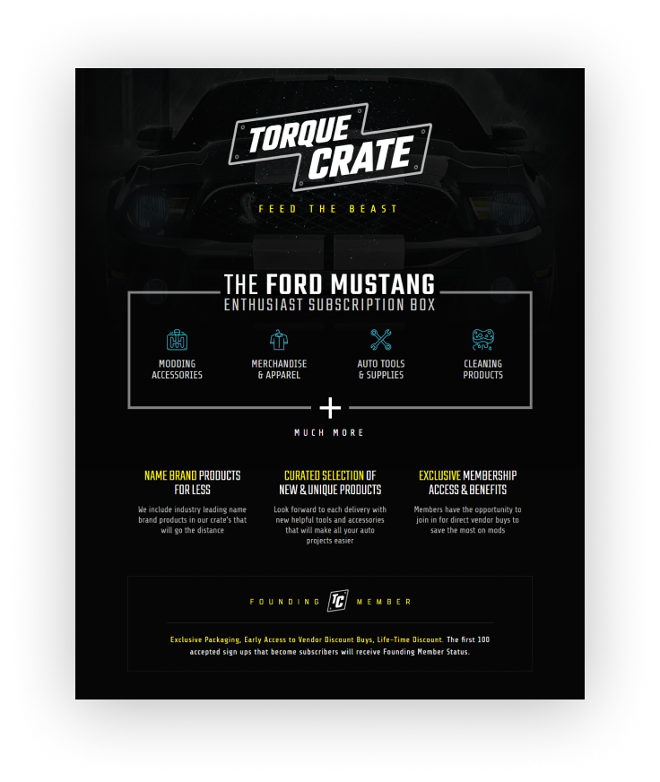 TorqueCrate Landing Page Design
