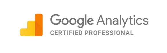 We're Google Analytics Certified Professionals