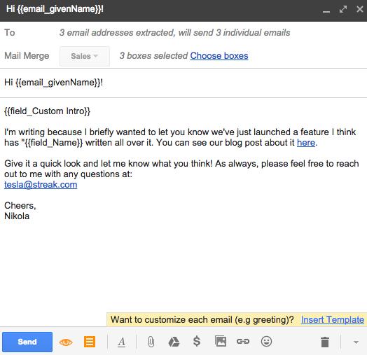 Mail merge streak crm for gmail get streak m4hsunfo