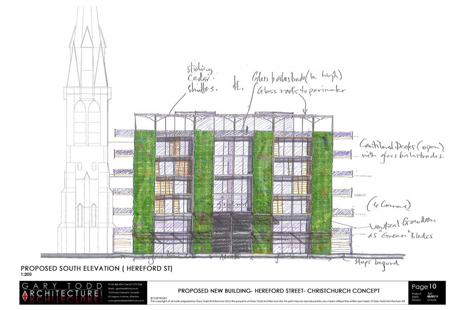 Cathedral Square Regeneration Concept by Gary Todd Architecture.