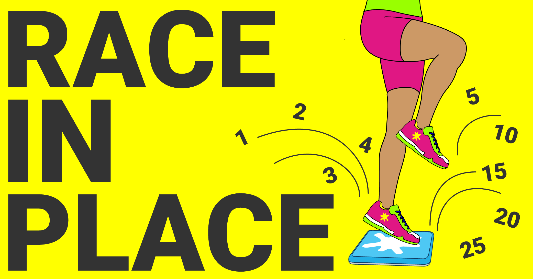 Race in place activity pack