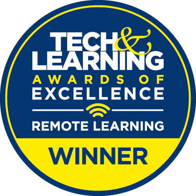 Tech & Learning Award of Excellence Remote Learning Winner Badge