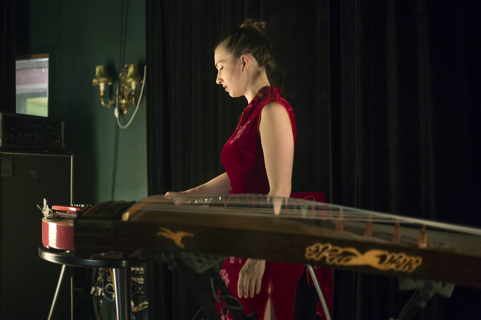 Instruments and Barbora red dress