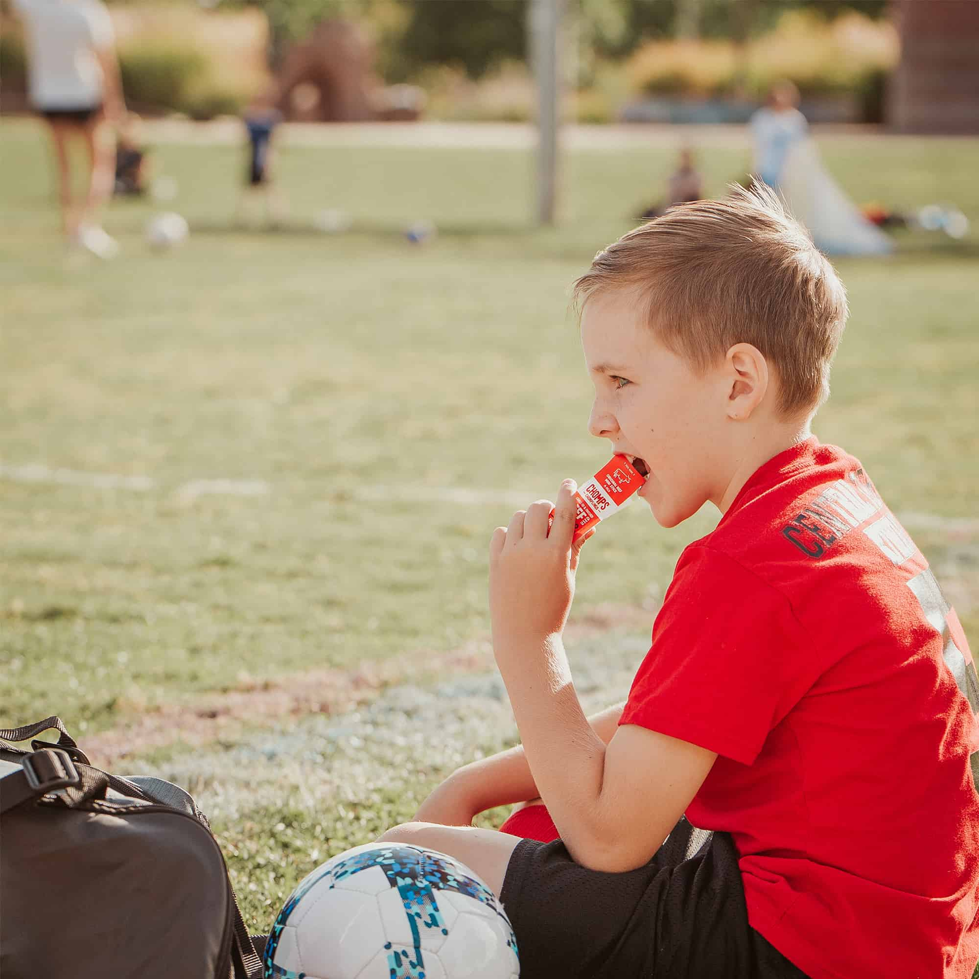 Kids Soccer with Beef Jerky Stick  by Results Imagery for CHOMPS