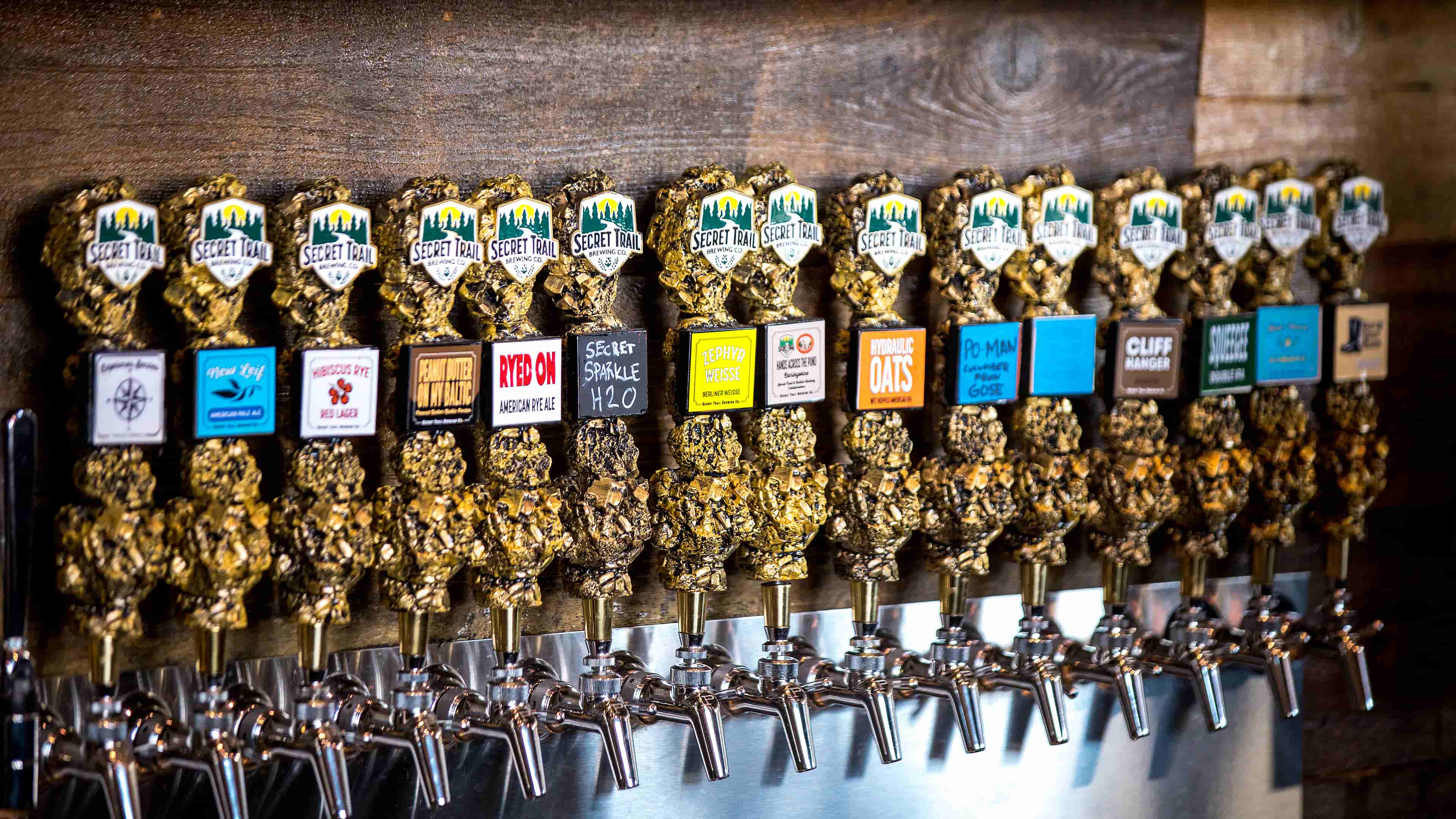 Secret Trail Brewing Company Chico California Tap Handle Photo by Results Imagery