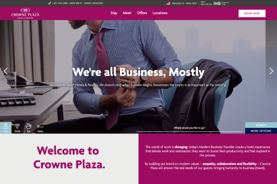 Crowne Plaza Hotels – Site Rebrand - Webflow