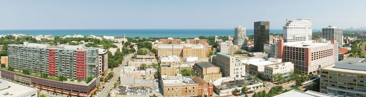 Evanston skyline