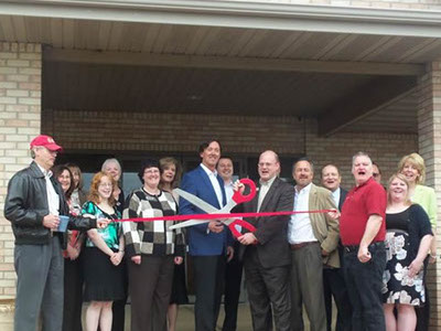 Porte Brown McHenry office ribbon cutting ceremony