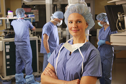 Doctor in surgery operating room