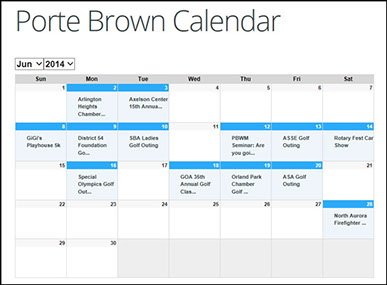 Porte Brown Events Calendar
