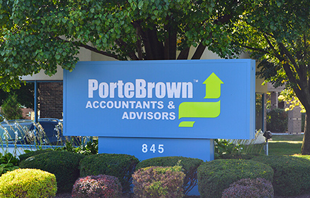 Porte Brown LLC sign