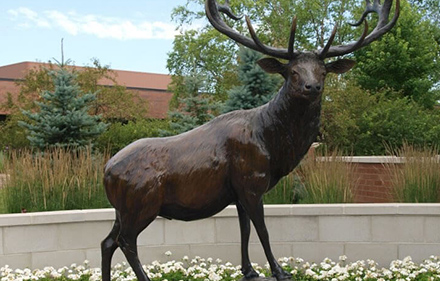 Elk Grove Village elk statue