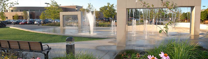 Elk Grove Village fountains