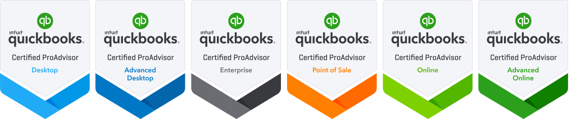 QuickBooks® Certified ProAdvisor Badges