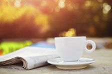 Newspaper & Coffee Cup