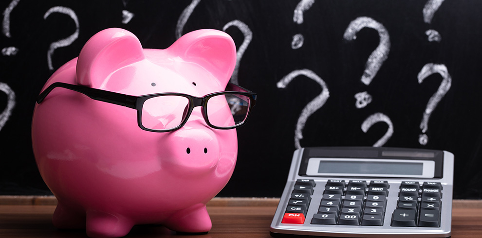 Piggy Bank and Question Marks