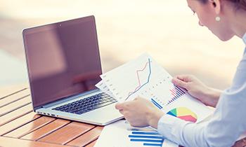 CFO reviewing financial documents