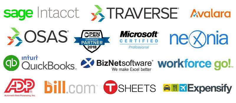 Financial and accounting software logos