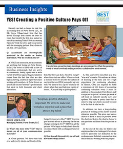 YES! Creating a Positive Culture Pays Off