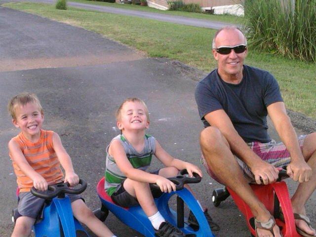 Eddie Mannis with his nephews