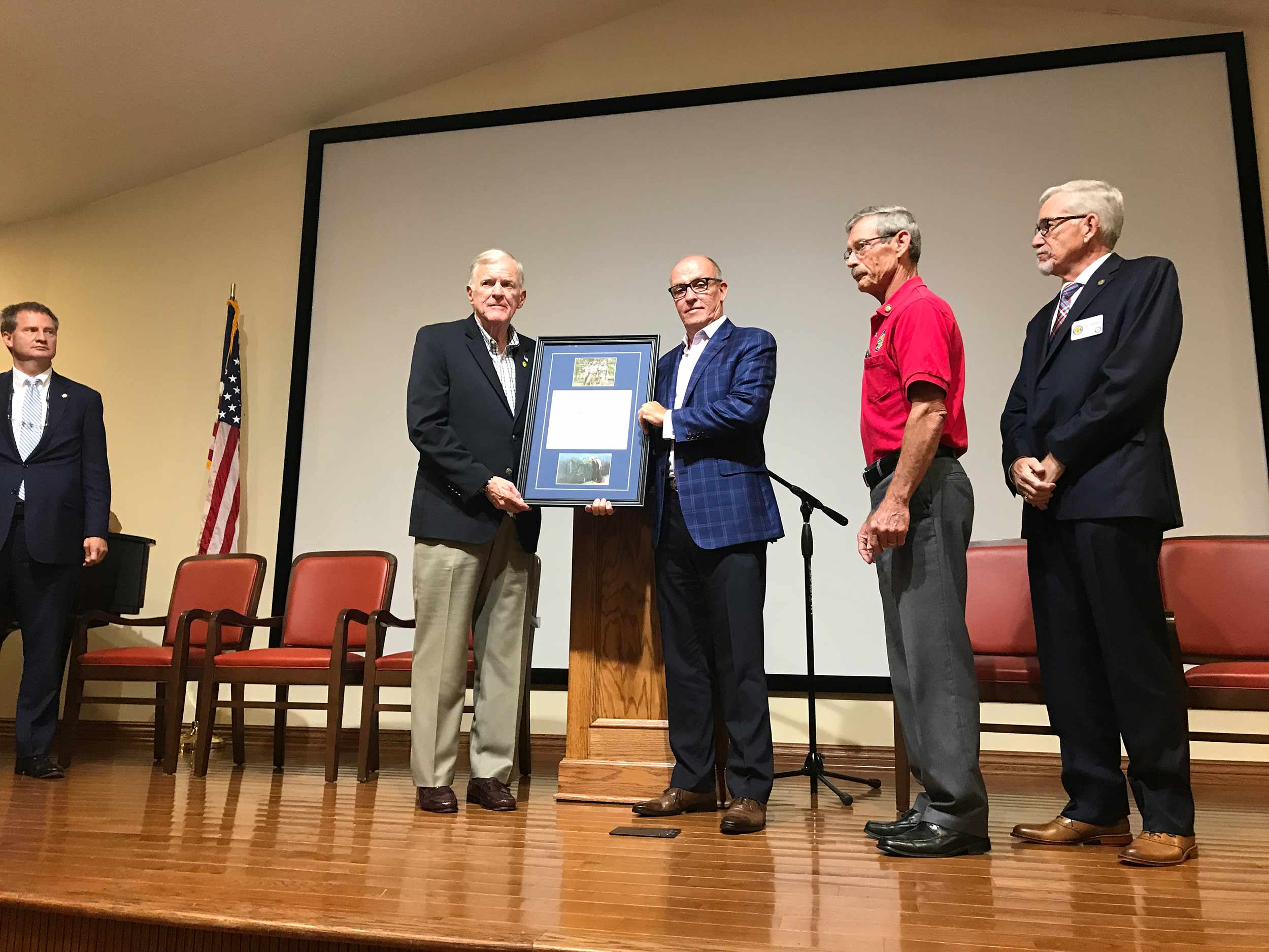 Eddie receiving the Lifetime Membership Award from Vietnam Veterans of America