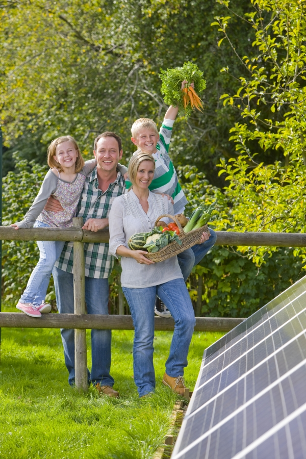 Family Learning About Solar