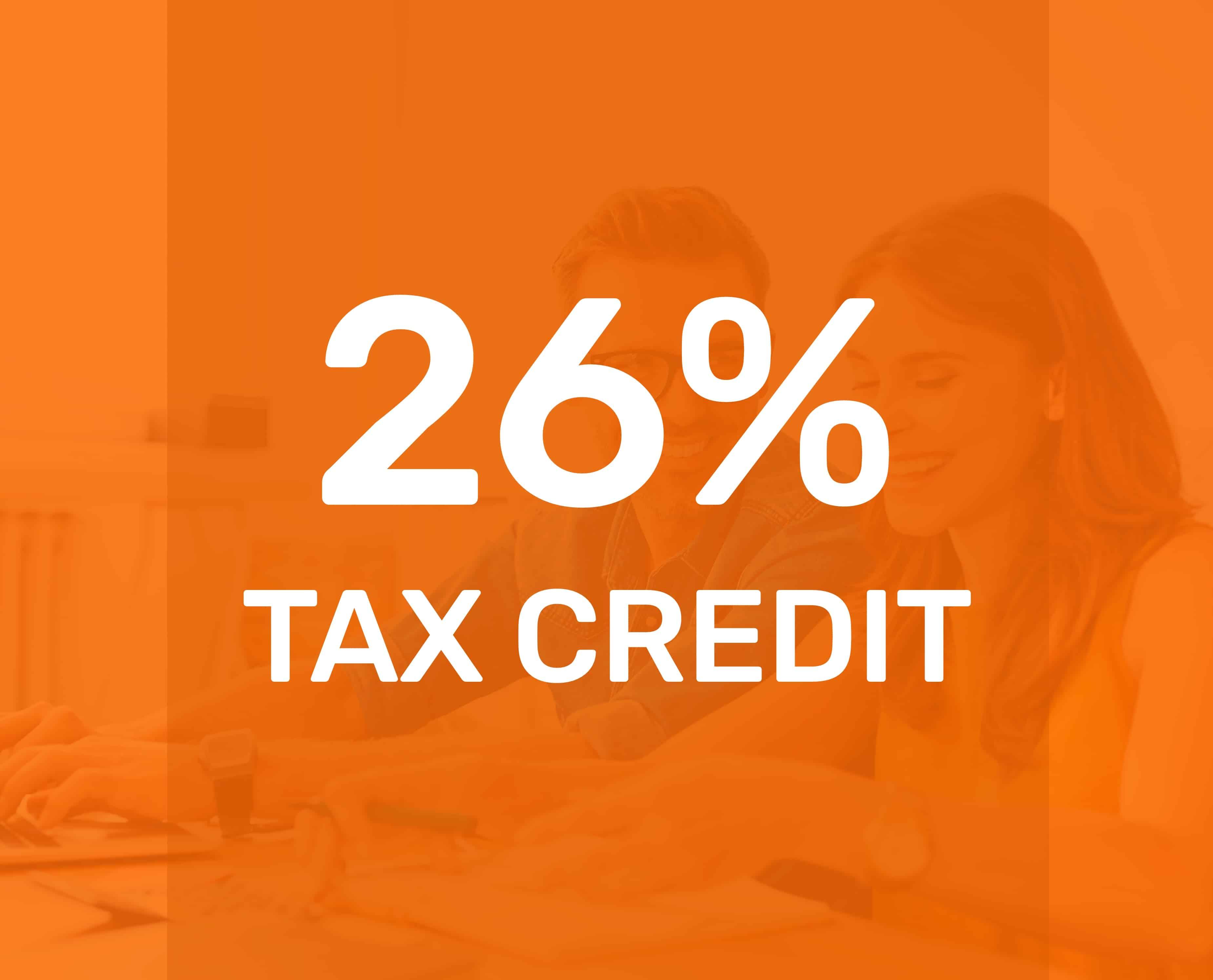 ITC solar tax credit is 26%