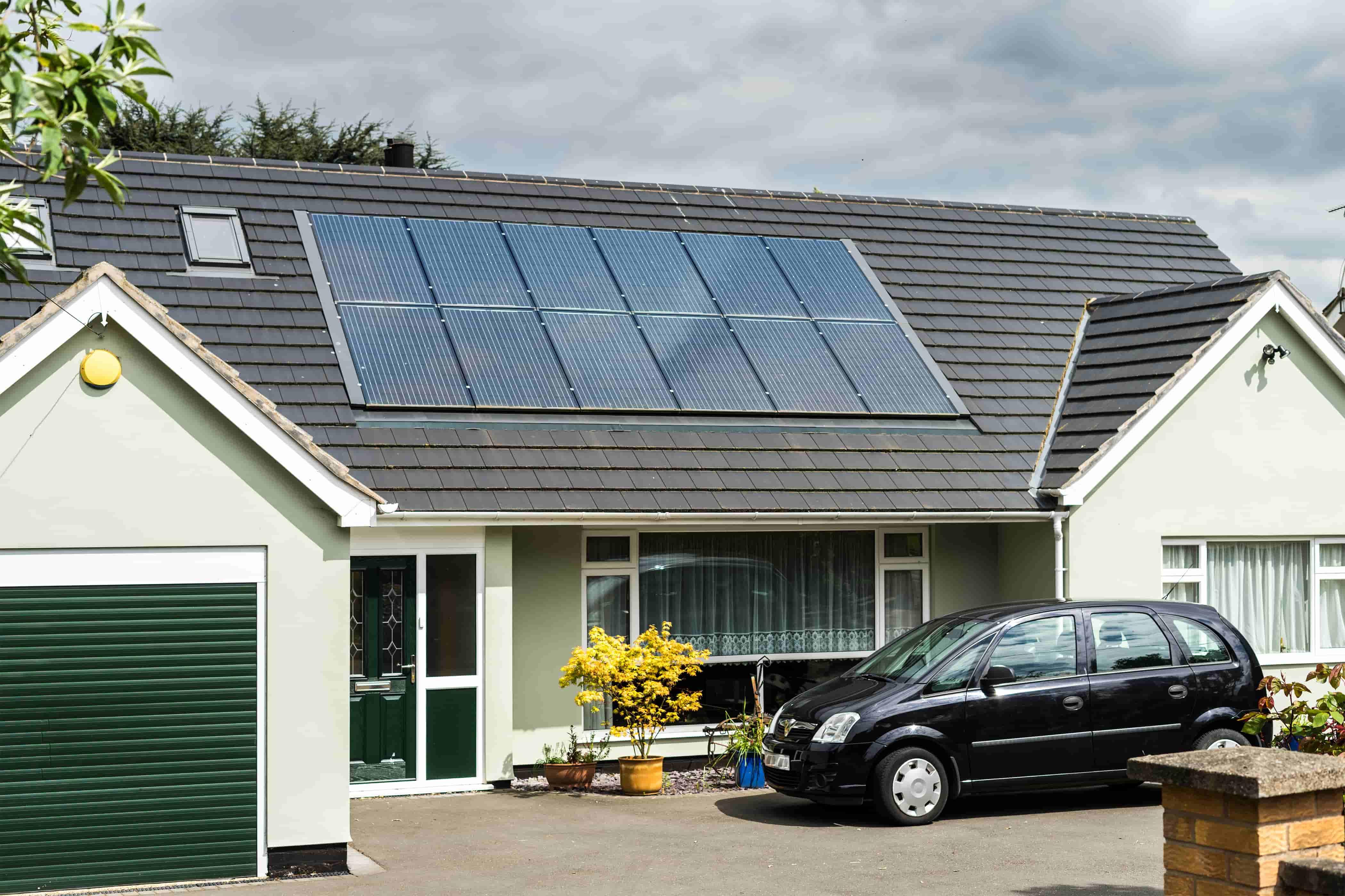 solar panels in spring