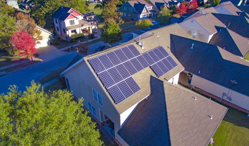 Rooftop solar panels in Kansas