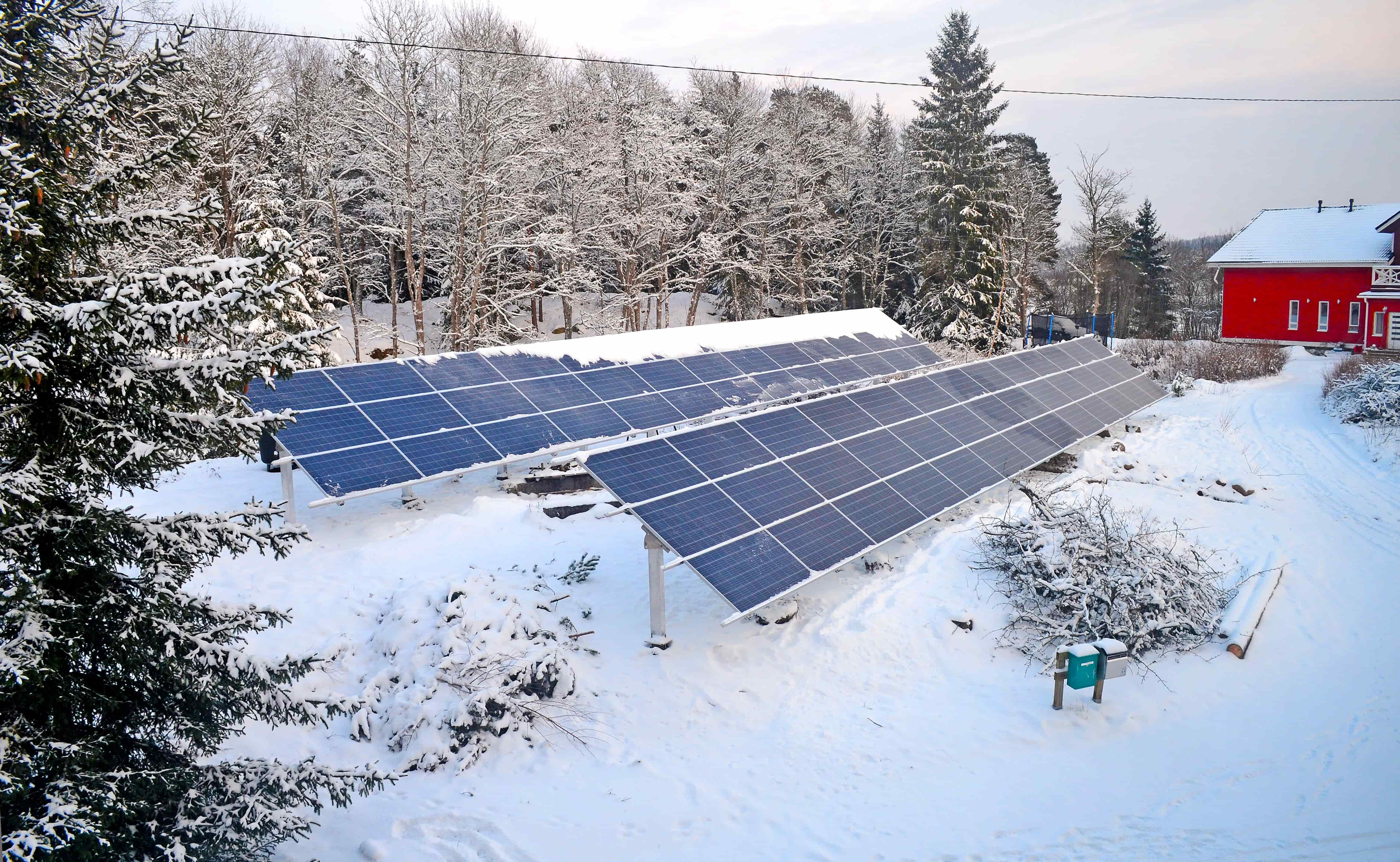 How do solar panels perform during winter
