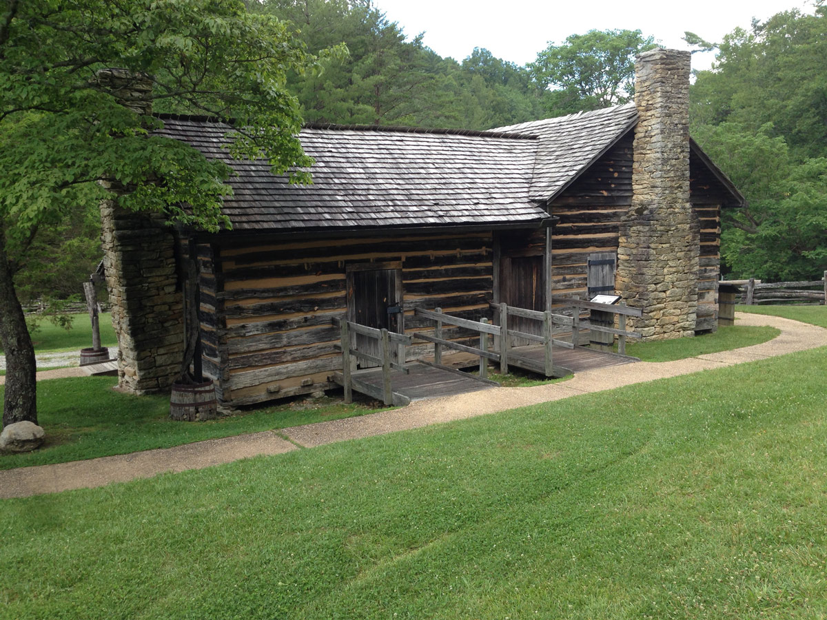 Hutchison Homestead in Stone Mountain State Park, North Carolina
