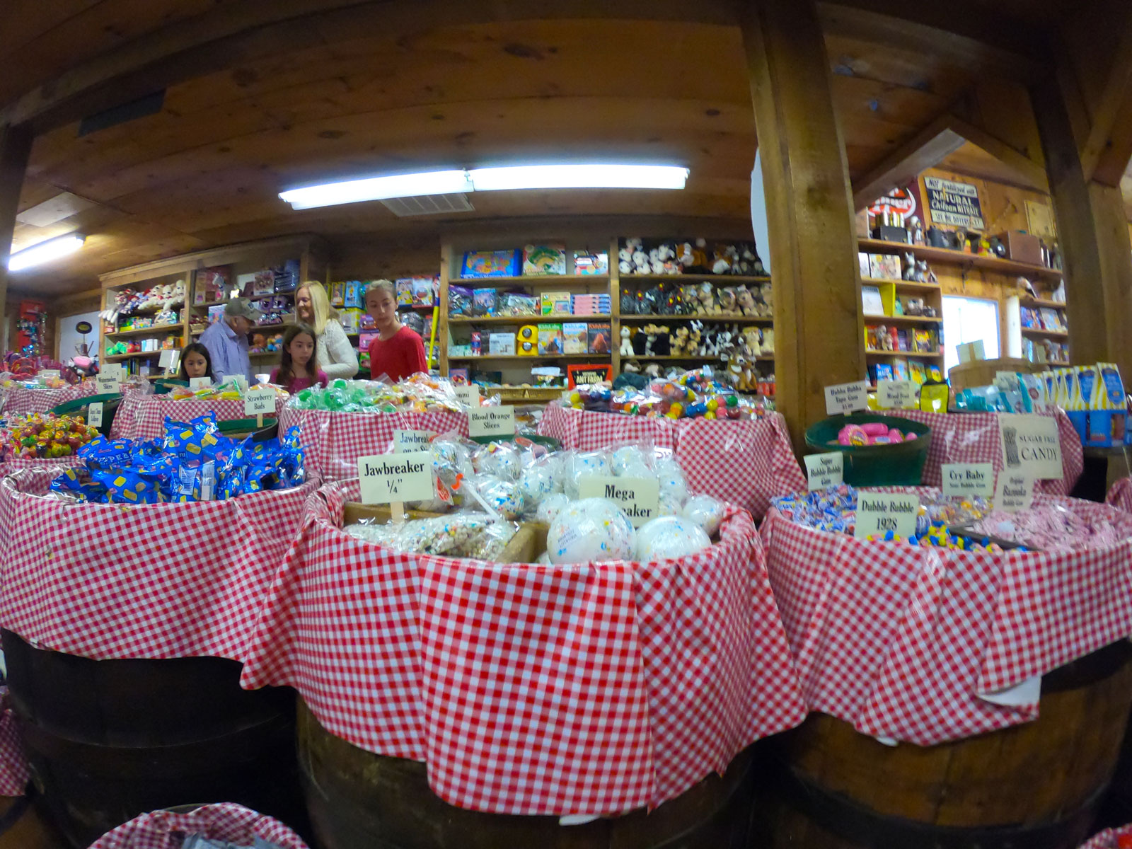 Photo of a candy counter at the Mast General Store Annex in Valle Crucis, North Carolina