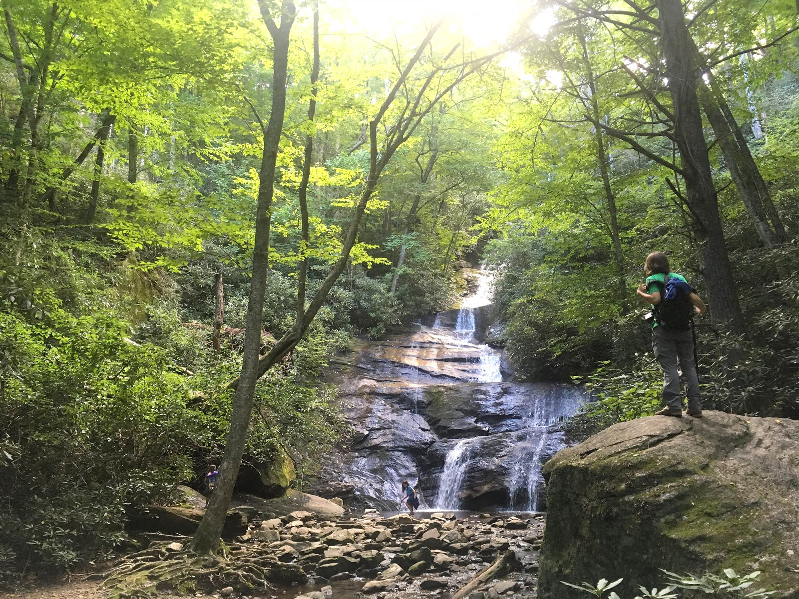 Setrock Creek Falls near Black Mountain Campground in North Carolina