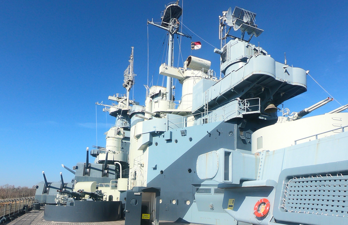 USS North Carolina main deck