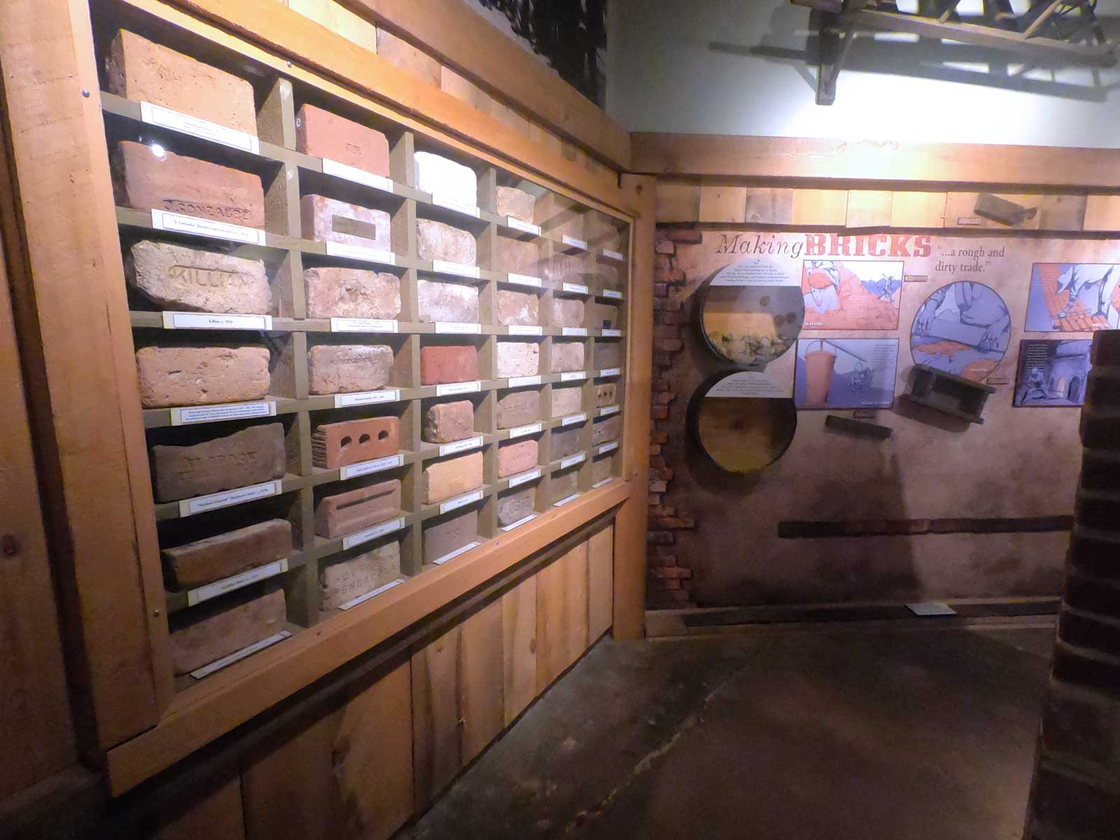 Brick display exhibit in Museum of Industry in Historic Pensacola Village Florida