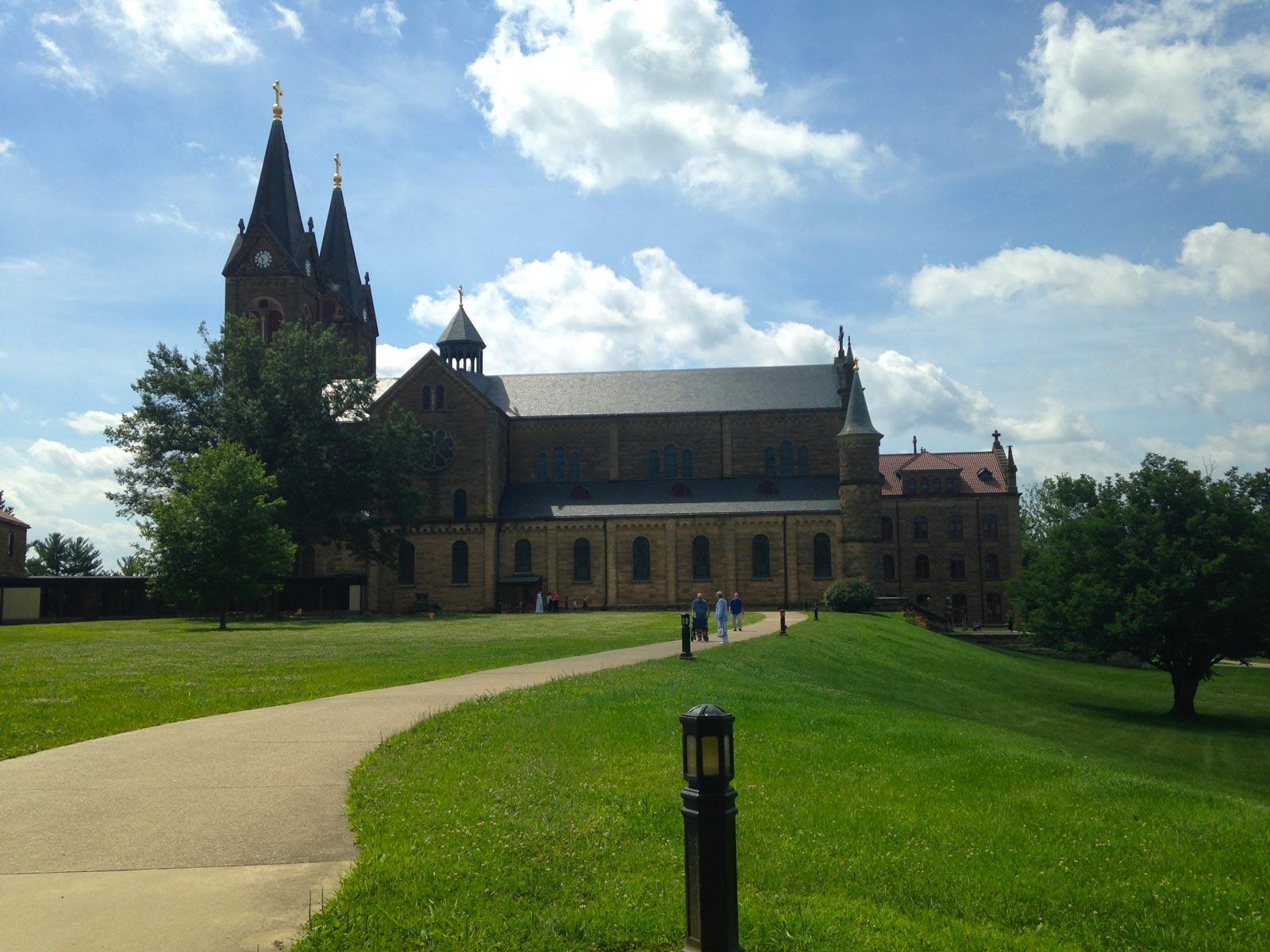 Exterior of Saint Meinrad Archabbey, St Meinrad, Indiana