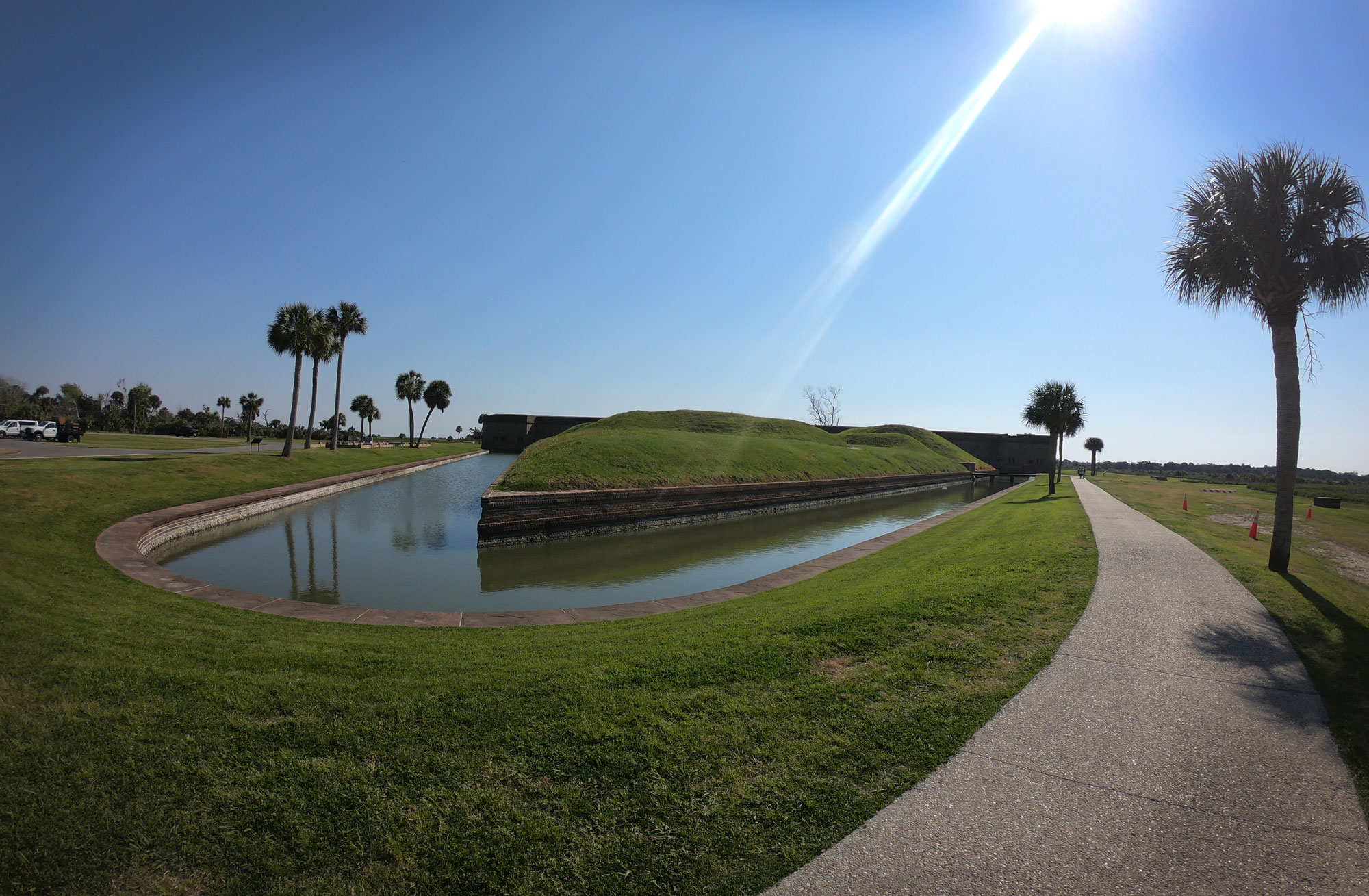 Horsebend moat at Fort Pulaski National Monument, Georgia