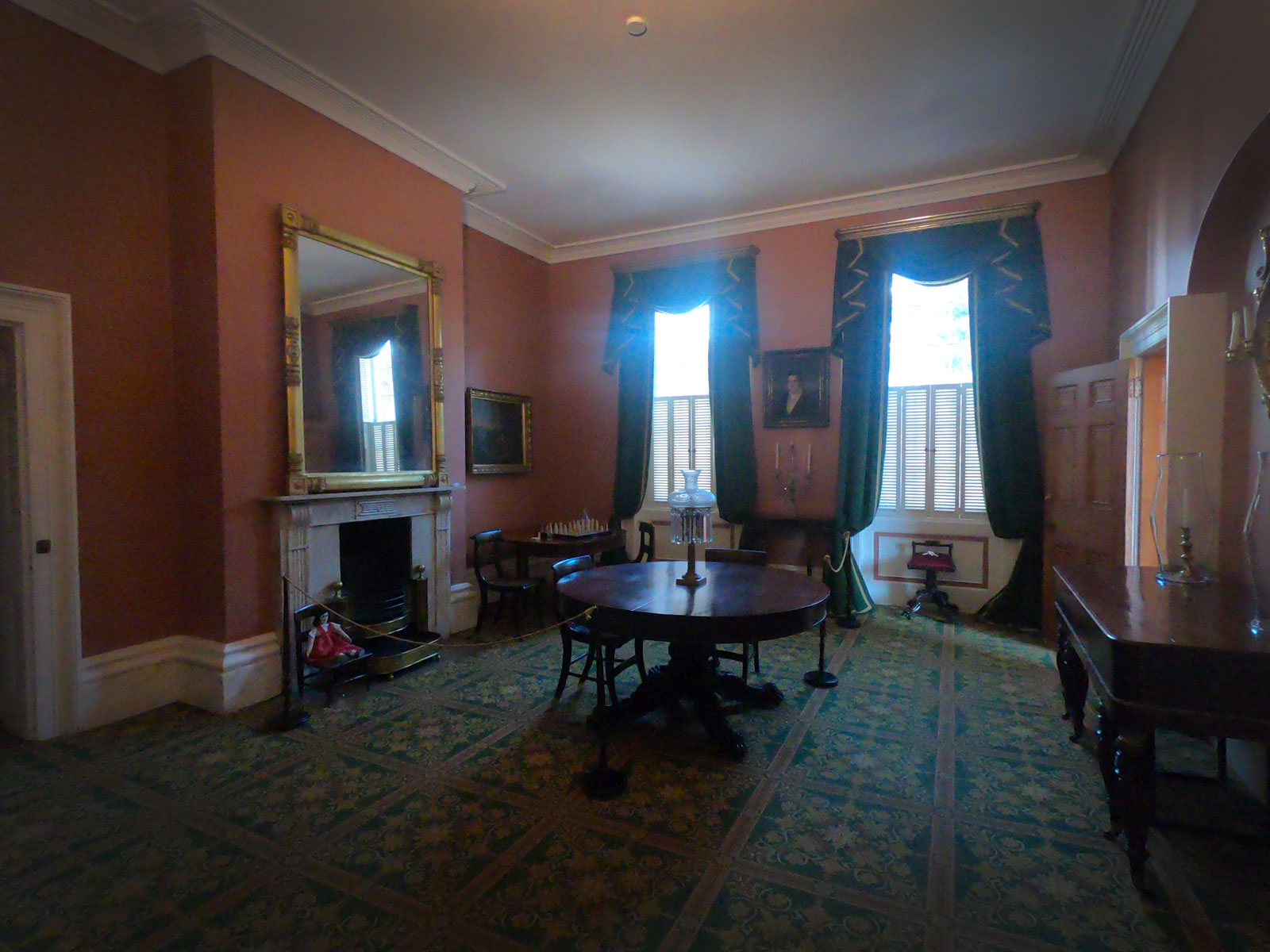 Furnished room in Owens-Thomas House and Slave Quarters in Savannah, Georgia