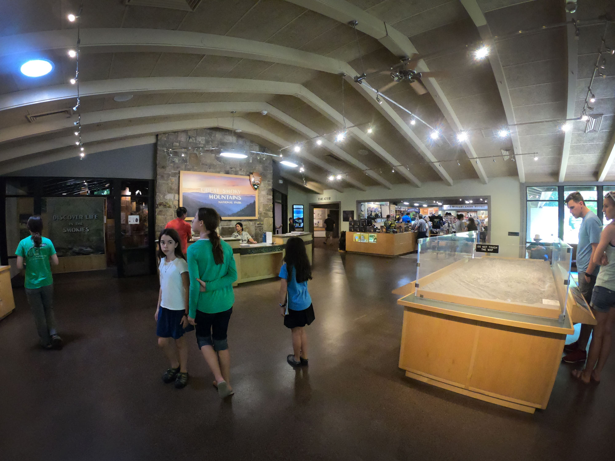 Interior of Sugarlands Visitor Center of Great Smoky Mountains National Park, Tennessee