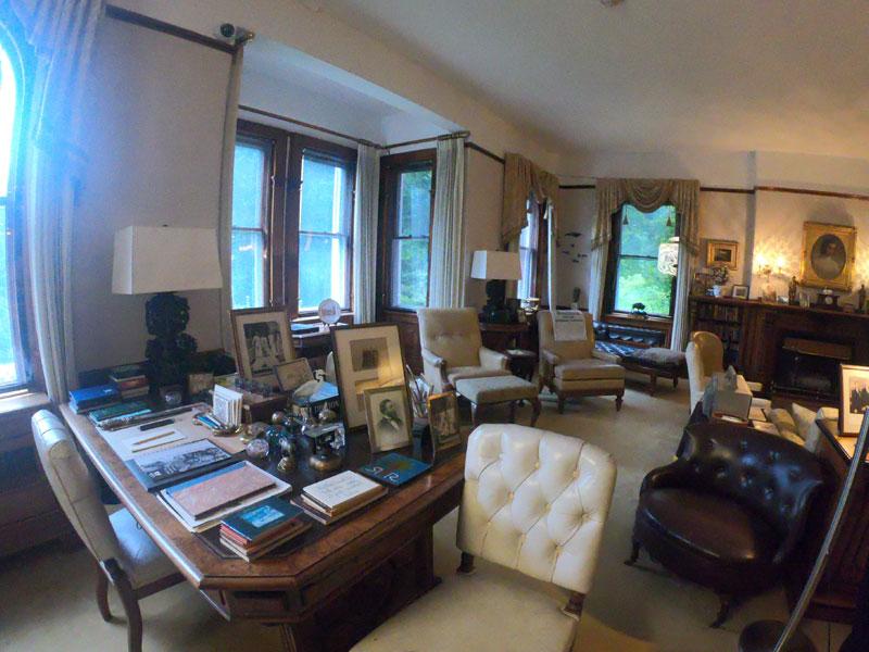 Interior mansion room at Marsh-Billings-Roosevelt National Park, Vermont