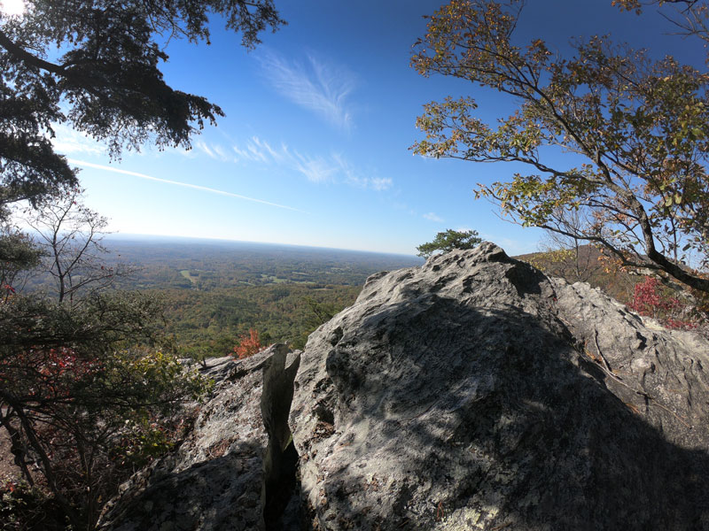 Rock outcropping overlook in Hanging Rock State Park, North Carolina