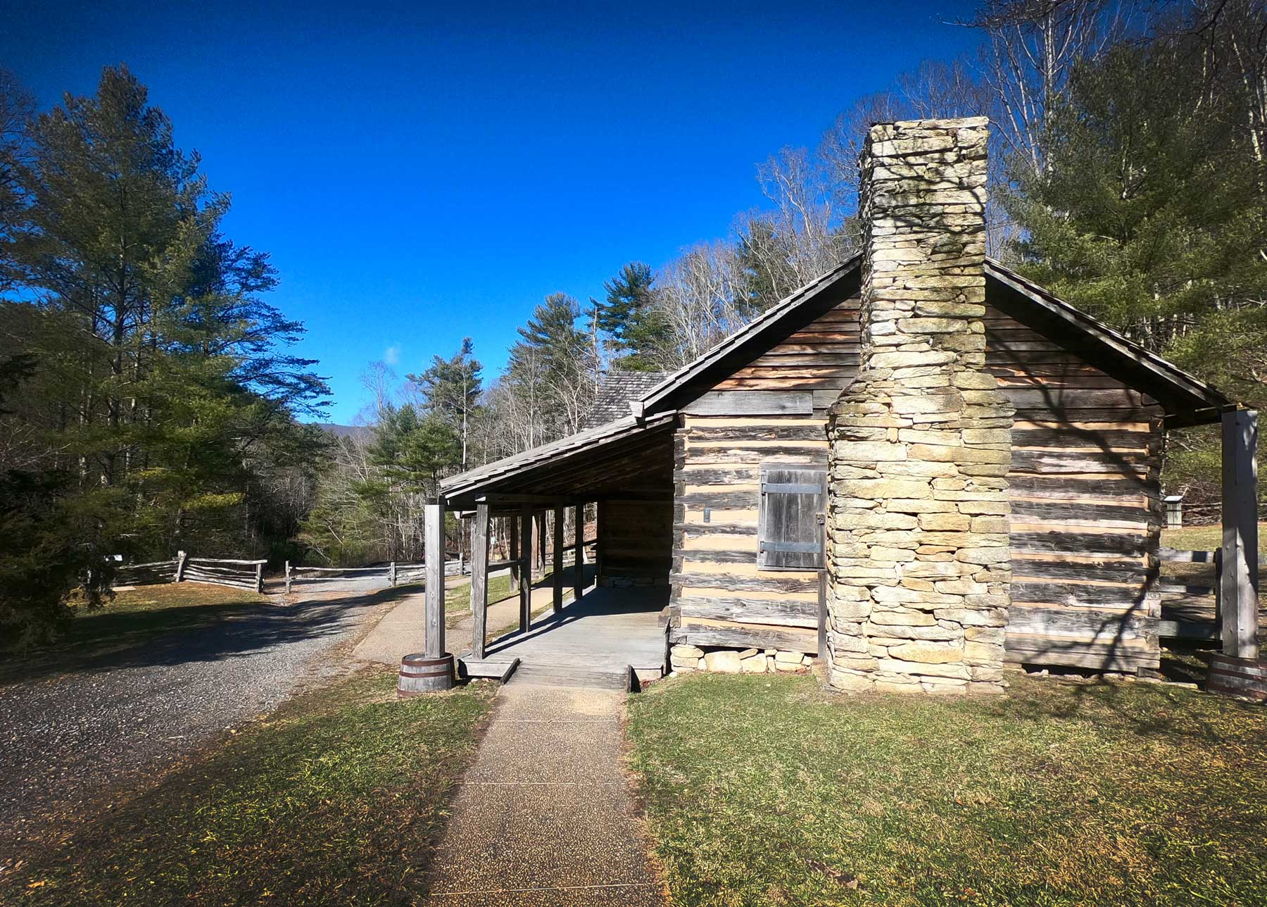 Historic Hutchison Homestead at Stone Mountain State Park, North Carolina