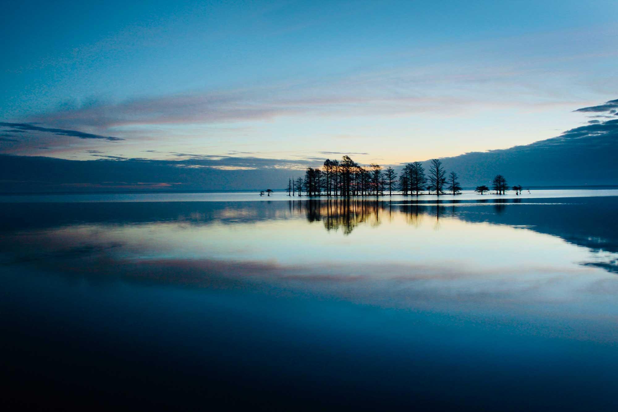 Sunrise on Lake Mattamuskeet, North Carolina