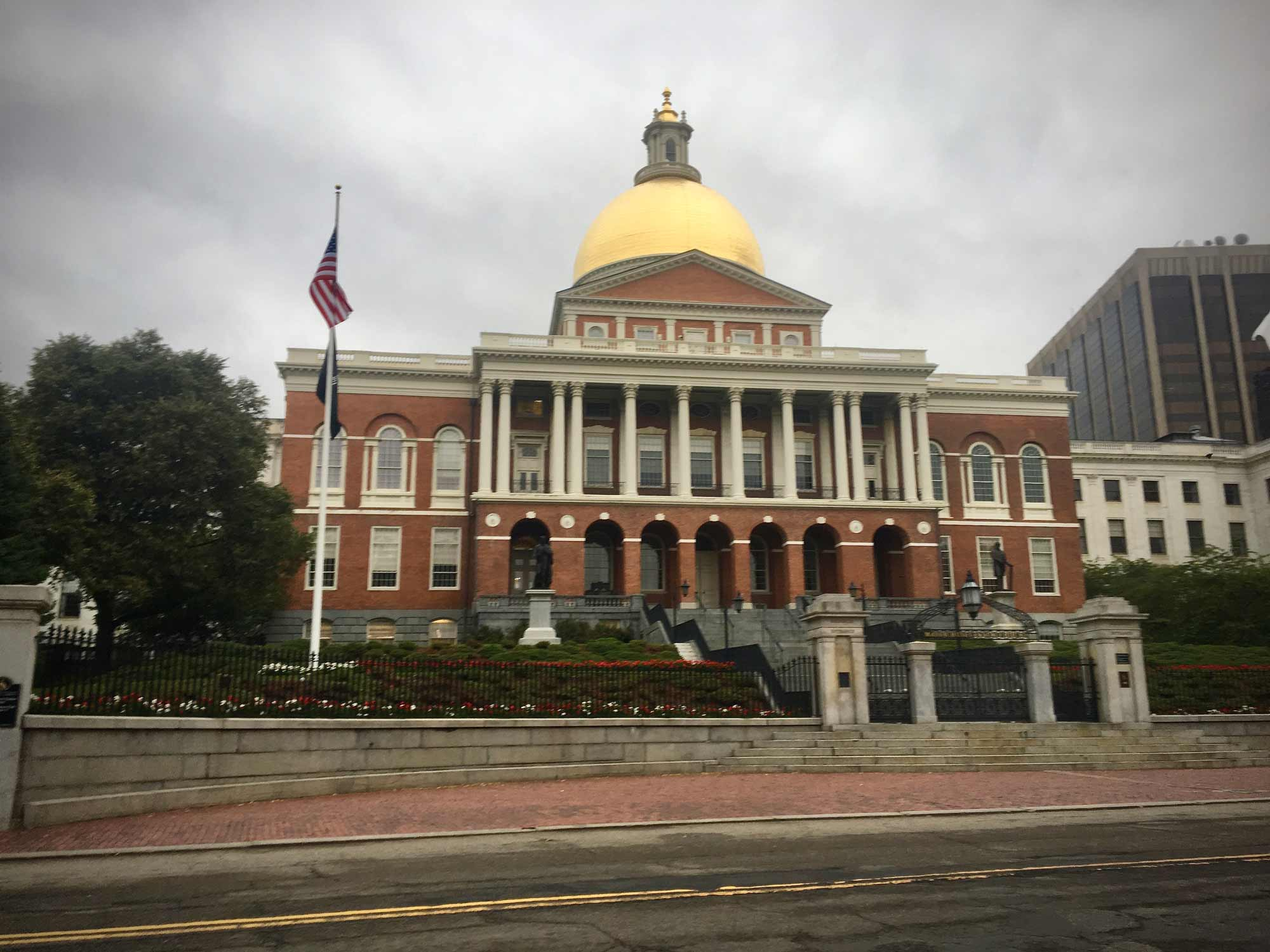 Gold done on the Massachusetts State House in Boston, Massachusetts on the Freedom Trail
