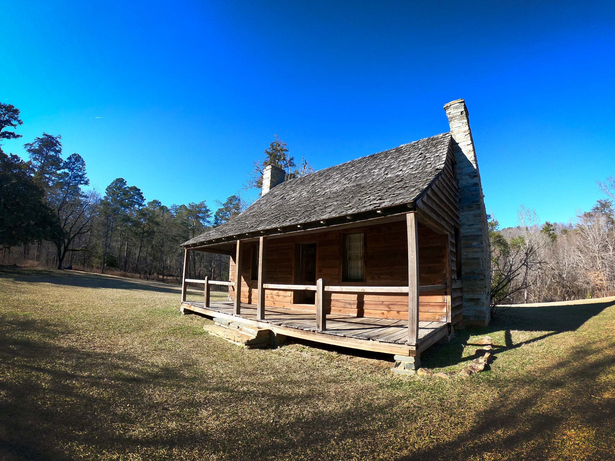 Dr Francis Kron Homestead exterior  in Morrow Mountain State Park, North Carolina